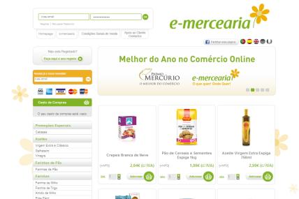 Loja online e-mercearia
