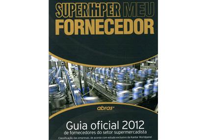 Guia oficial 2012 de fornecedores do setor supermercadista na revista Super Hiper.