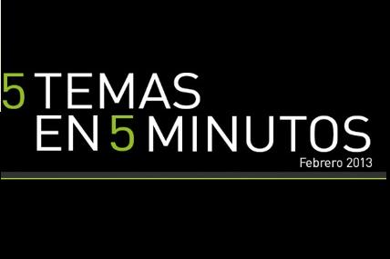 5 en 5 - Febrero 2013