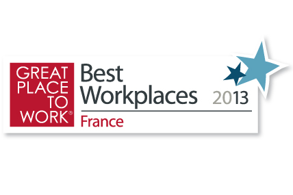 Kantar Worldpanel a été classée 21ème au Palmarès des « Best Workplaces » France 2013 dans la catégorie des entreprises de moins de 500 salariés