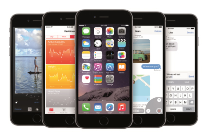 The iPhone 6 launch has sent Apple's share of British smartphone sales up 10.4 percentage points.