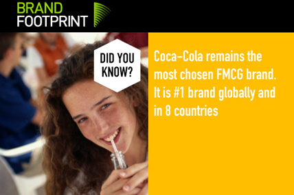 Coca-Cola remains the number one brand for the third year running