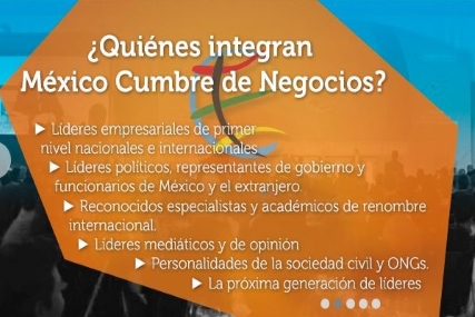 """La 13ª México Cumbre de Negocios: """"Innovación: Motor del desarrollo económico"""""""