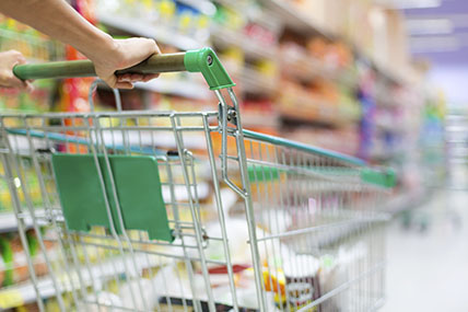 Deflation is limiting growth in the grocery market as supermarket prices continue to fall