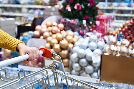 With Christmas just around the corner, shoppers are stocking up on festive treats.