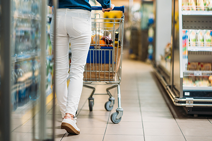Shoppers have spent an additional €96 million on groceries over the latest 12 weeks compared to last year.
