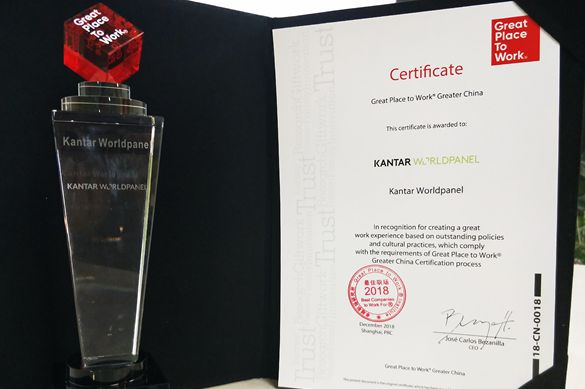 One of the 'Best Companies to Work For in Greater China