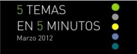 5 temas en 5 minutos | Marzo 2012